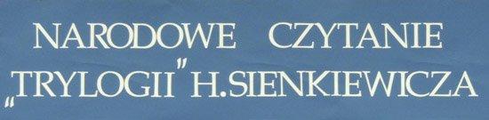 6 września 2014 r. - Narodowe Czytanie - H. Sienkiewicz