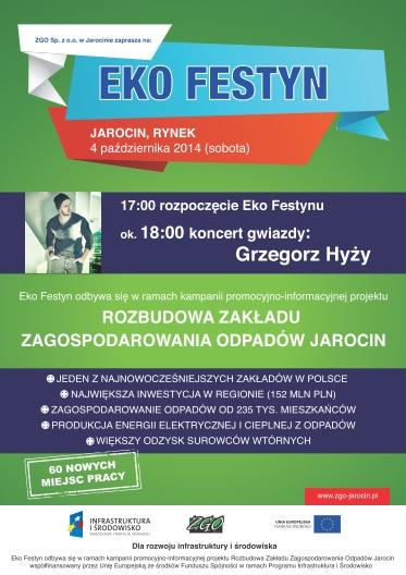 4 października 2014 r. - ZGO Jarocin zaprasza na EKO FESTYN