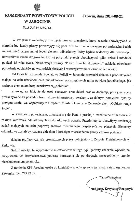 Komunikat Komendanta Powiatowego Policji