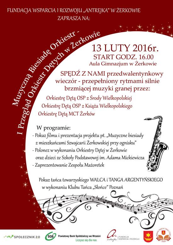 13 luty 2016 r. - I Przegląd Orkiestr Dętych w Żerkowie