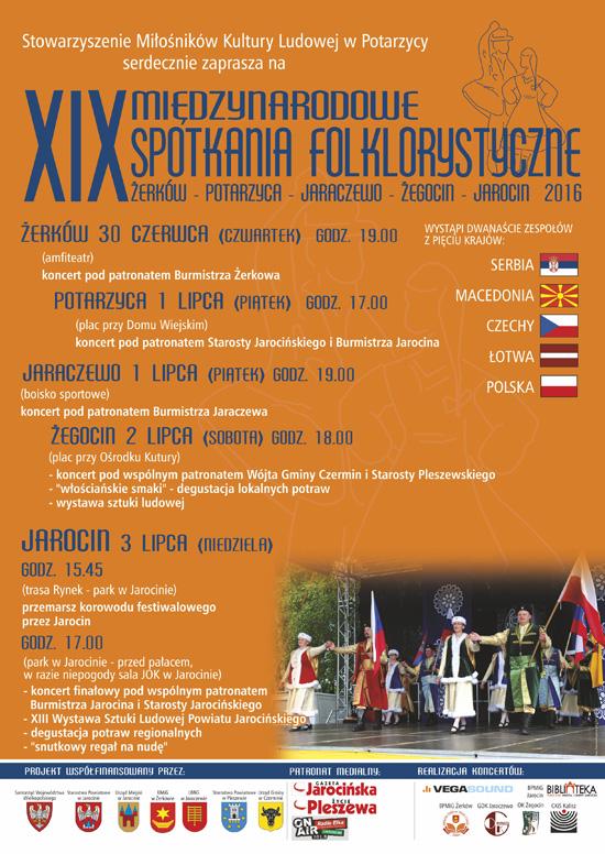 30 czerwca 2016 r. XIX Międzynarodowe Spotkania Folklorystyczne