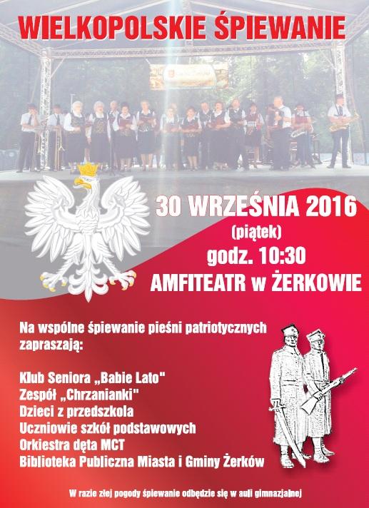 30 września 2016 r. - Wielkopolskie Śpiewanie wżerkowskim amfiteatrze