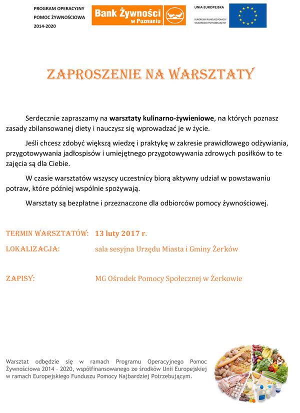 13 lutego 2017 r. - Warsztaty kulinarno-żywieniowe