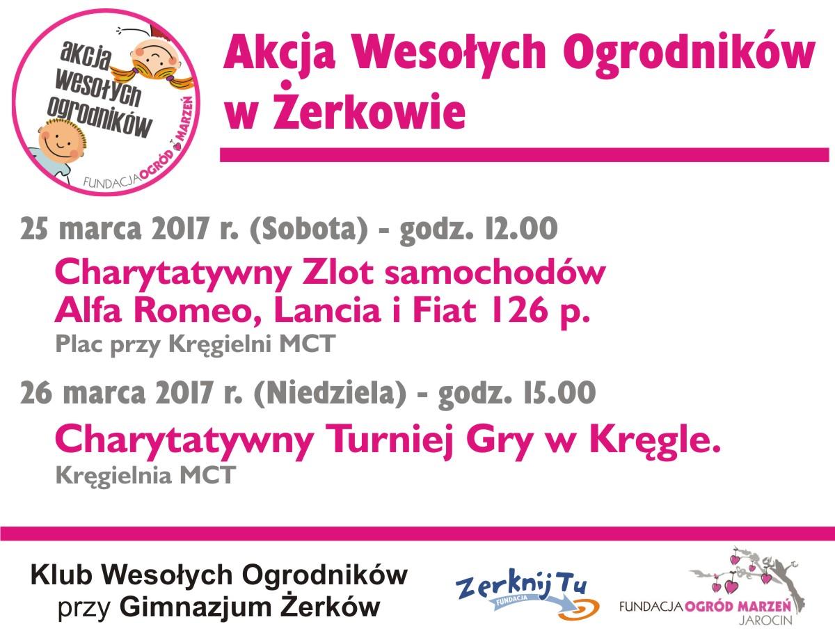 25-26 marca 2017 - Akcja Wesołych Ogrodników wŻerkowie – Gimnazjaliści razem zFundacją Zerknij Tu