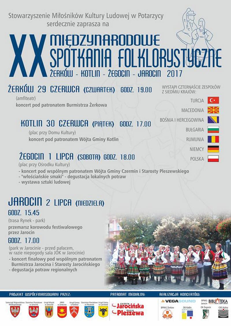 29 czerwca 2017 - XX Międzynarodowe Spotkania Folklorystyczne