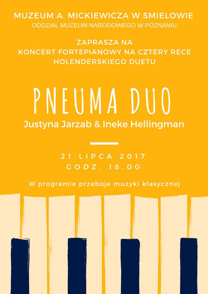21 lipca 2017 r. - Koncert fortepianowy wMuzeum im. Adama Mickiewicza wŚmiełowie