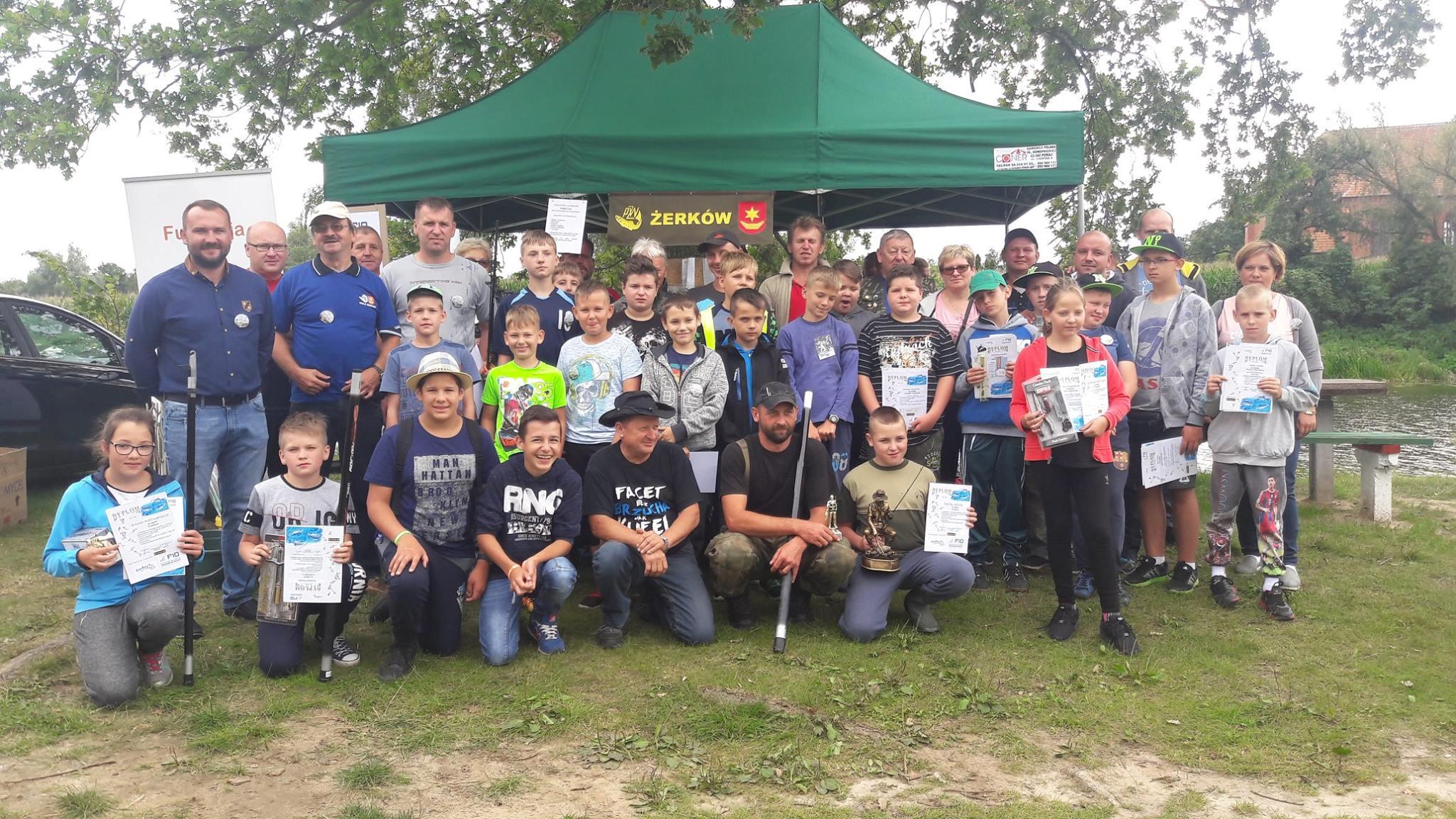 13 sierpnia 2017 r. - Zawody wędkarskie dla dzieci zorganizowane przez PZW Żerków
