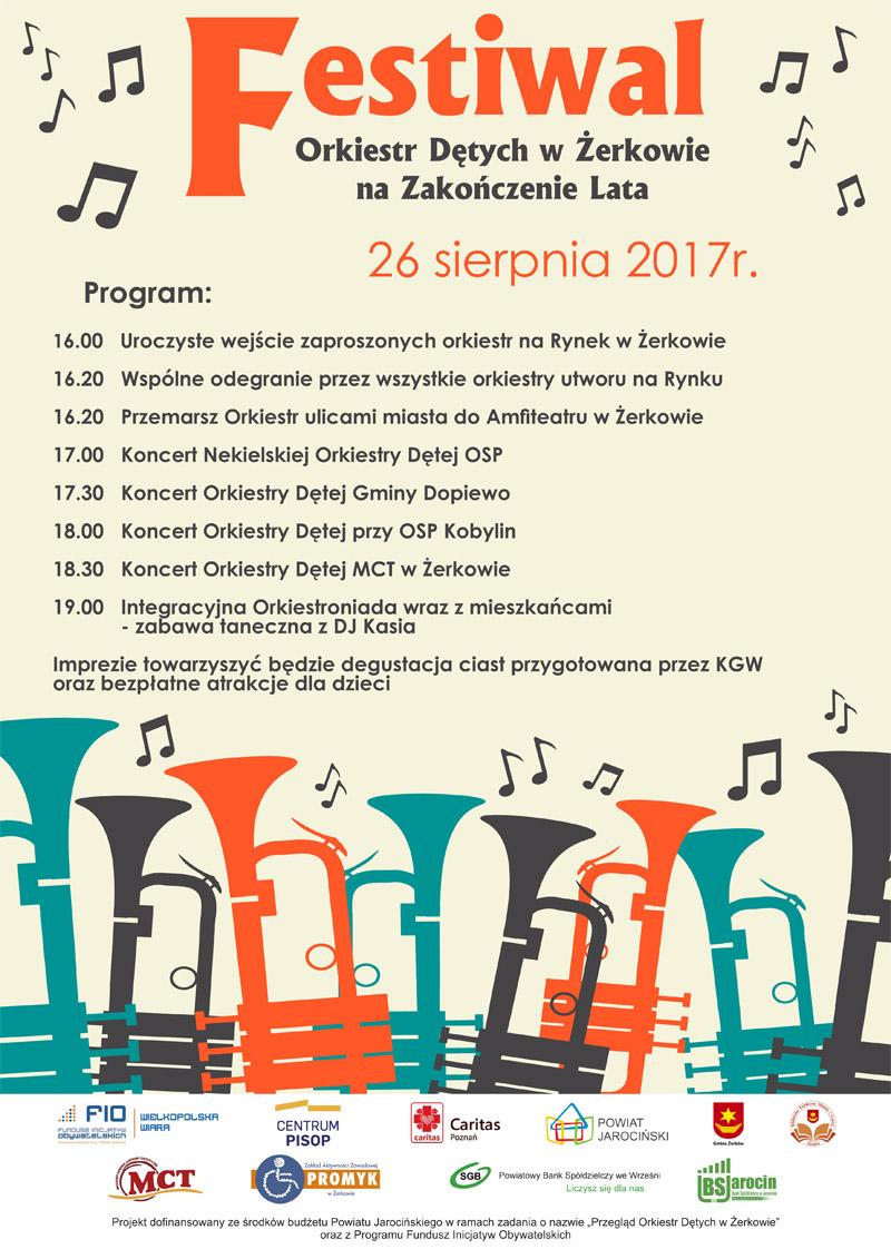 26 sierpnia 2017 r. - Festiwal Orkiestr Dętych w Żerkowie na Zakończenie Lata